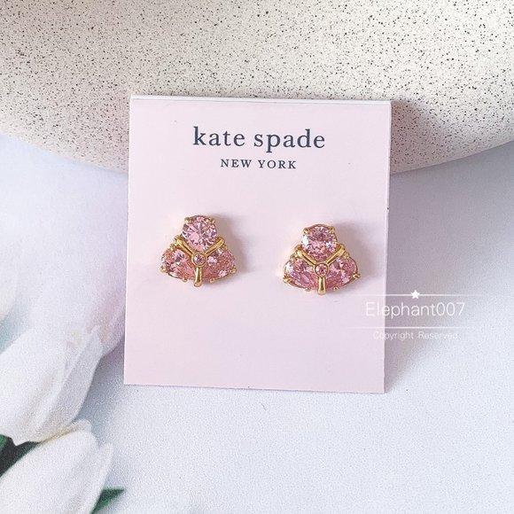 Kate Spade earrings pink crystal earrings